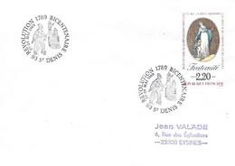 """Bicentenaire De La Révolution 93 St Denis 27-28 Mai 1989 """"Révolution - Cachets Commémoratifs"""