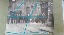Photo -Visite Maréch JOFFRE En 1921 à L'Usine De Paul GIROD à UGINE Savoie - Compagnie Des Forces & Acieries Electriques - Identified Persons