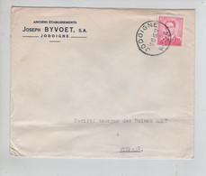 REF3078/ TP 1069 Baudouin Lunettes S/L. Joseph Byvoet Jodoigne + C.12/12/66 < Wygmaal - Lettres & Documents