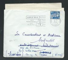 Yvert N° 886  Sur Lac  Obl C Catalogue Dreyfuss ORL433  ( LIRE DETAIL )   9/07/1954 LX 4807 - 1982-90 Liberty Of Gandon
