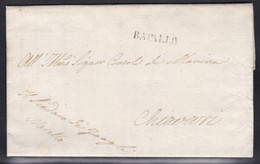 Italy - 1842 - Entire Letter Rapallo To Chiavari - 1. ...-1850 Prephilately