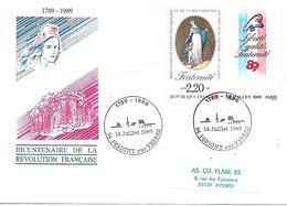 """Bicentenaire De La Révolution 94 Périgny Sur Yerres 14 Juillet 1989 """" - Cachets Commémoratifs"""