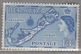 BERMUDA 1953 Elizabeth II MVLH (**/*) Mi 142  #17013 - Bermuda
