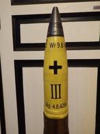 Réplique Ogive D'obus 8.8 Cm Allemand WW2 échelle 1:1 - 1939-45