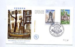 Lettre Cachet Strasbourg Conseil Europe Droit Homme Sur Europa 1978 - Cachets Commémoratifs