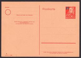 DDR P42/02 20 Auf 30 Pf Friedrich Engels Ungebraucht Ganzsache, Card - Postales - Nuevos