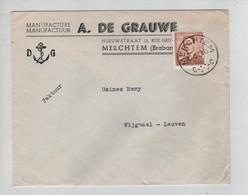REF3082/ TP 1028 Baudouin Lunettes S/L. A.De Grauwe Merchtem + C. 12/8/63 > Wijgmaal - Lettres & Documents