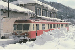 TRAIN Autorail SNCF Dans La Neige En Gare De MOREZ En 02/1976 VOIR DOS - Trains