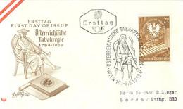 516  Tabac, Pipe: Env. Premier Jour D'Autriche, 1959 -  Pipe, Tobacco FDC From Austria. - Droga
