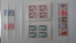 N267 Collection De Timbres ** De France Dont Carnet Croix Rouge Et Bonnes Petites Valeurs. A Saisir  !! - Verzamelingen (in Albums)