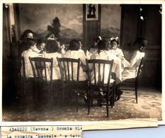 "ALASSIO-SV -Fotocartolina 12,50 X16,50-""Scuola Elementare-LA Squadra Cuoche (massaie) A Tavola- - Savona"