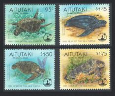 Aitutaki Turtle Year Of The Sea 4v 1995 MNH SG#690-693 - Aitutaki