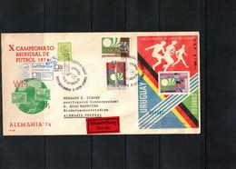 Uruguay 1974 World Football Cup Germany Lufthansa Flight Uruguay - Germany - 1974 – West-Duitsland