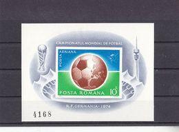 Soccer World Cup 1974 - Football - ROMANA - S/S Imp. MNH - 1974 – West-Duitsland
