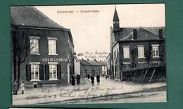 707-SMEERMAES-dorpstraat-cafe De La Meuse-censure Allemande WWI Stempel 2 Komp LDST INF SAARBRUCKEN - Lanaken