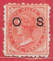 Nouvelle-Galles Du Sud Service N°1 1p Rouge 1879-89 (*) - Mint Stamps