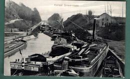 708-SMEERMAES-KANNAL-peniche Stoomboot Vapeur-censure Allemande WWI Stempel S.B HAMBURG FELDPOSTKARTE - Lanaken