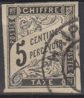#152# COLONIES GENERALES TAXE N° 5 Oblitéré Haiphong (Tonkin) - Portomarken