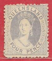 Queensland N°22 4p Violet Terne 1866 (*) - Neufs