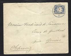 BAVIERE 1901:  LSC De Munich Pour Ferdinand De Saussure à Creux De Genthod (Genève), Affr, De 20pf - Bavaria