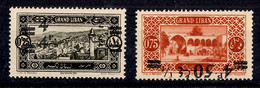 Grand Liban Maury N° 76A (double Surcharge) Et N° 77e (surcharge Renversée) Neufs ** MNH. TB. A Saisir! - Unused Stamps