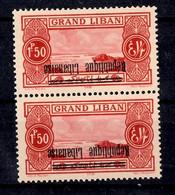 Grand Liban Maury N° 86C Variété Surcharge Renversée En Paire Neufs ** MNH. TB. A Saisir! - Unused Stamps
