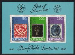 Suriname 150th Anniversary Of The Penny Black MS 1990 MNH SG#MS1446 CV£14.50 - Suriname