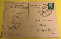 Festa Popolare 1971 Plauen Spitzenfest Annullo Speciale - Covers & Documents