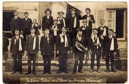 Rare Une Page D'Histoire SAINT PRIEST Des CHAMPS  Carte Photo  Conscrits De 1917 Prét Pour La Grande Guerre - Otros Municipios