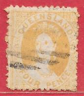 Queensland N°35a 4p Jaune (filigrane C, Dentelé 12) 1880 O - Oblitérés