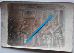1916 Massiges Verdun Champagne 103 Eme Régiment Infanterie Groupe De Combat  1914 1918 Tranchée Poilu Photo Ww1 - Guerra, Militari