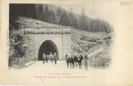 15 - LE LIORAN - Tunnel De La Route Nationale - Attelage De Boeufs - Otros Municipios