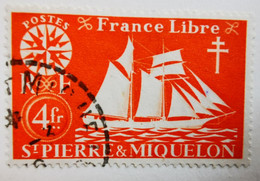 Saint-Pierre-et-Miquelon - Colonies Françaises - 1942 - Y&T N°306  /0/ - Oblitérés