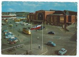 Kiel Hafen Bahnhof Tram Tramway Strassenbahn Trolley Hauptbahnhof Gare Station Autos 60s - Kiel