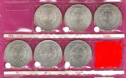 FRANCE Monnaies  Lot 6 Pièces Hercule 50 Francs Argent 1974/75/76x2/77/79 - M. 50 Francs