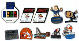 JO BARCELONE 1992 - LOT De 10 Pin's Différents - B13 - Verso : DIVERS - Jeux Olympiques