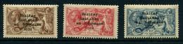 Ireland 1st Set Seahorses Dollard Overprint - T12-T14 - VERY LIGHT MINT - Unused Stamps