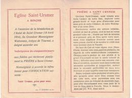 Binche, Saint-Ursmer Bénédiction De L'autel En 1914. Imprimerie Winance - Imágenes Religiosas