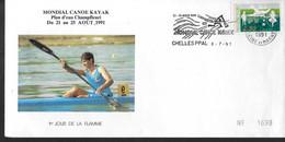 FRANCE   Lettre 1991 Chelles Canoe Kayak - Canoa