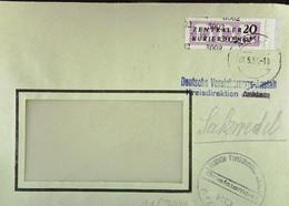 DDR: ZKD-Brief Mit 20 Pf EF Von Deutsche Versicherungs-Anstalt Anklam 7.5.57 Mit Briefstpl. Nach Riesa  Knr: B 11 (3002) - Official