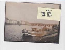 A SITUER LOCALISER 56 MORBIHAN PHOTO ORIGINALE  Rivière, Port, Bateau Transport Bois? - Lugares