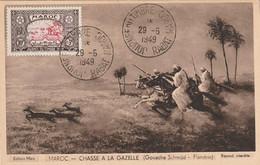Carte Maximum -   Chasse à La Gazelle (Gouache Schmid - Flandrin) - Marokko (1956-...)
