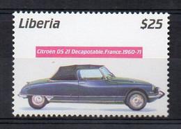 1960-1971 CITROEN DS.21 Decapotable - (Liberia 2001) MNH (2W0222) - Coches