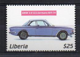 1971-1974 BMW 3.0 New Six CSL (E9) - (Liberia 2001) MNH (2W0223) - Coches