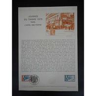 Document Officiel La Poste - Journée Du Timbre 1979 - Documents Of Postal Services