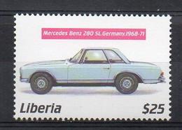 1968-1971 MERCEDES BENZ 280SL (W113) - (Liberia 2001) MNH (2W0226) - Coches