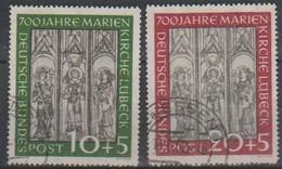 104/Mi: 139/40  ;Used;1951;Cat  €   160.00 - Used Stamps