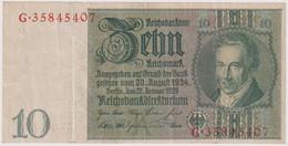 10 REICHSMARK 22.1.1929. P-180a - 10 Mark
