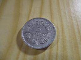 France - 5 Francs Lavrillier 1946 Alu.N°1782. - J. 5 Francs