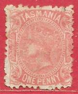 Tasmanie N°27 1p Rose 1871-76 * - Nuovi